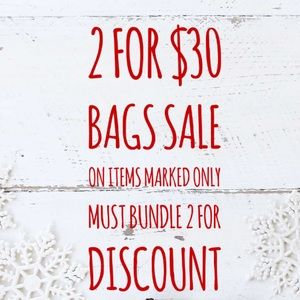 Handbags - ✨2 for $30 Sale on Selected Bags✨